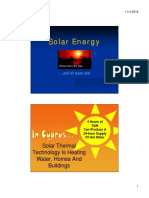 Solar Thermal Energy & Solar Photovoltaic Energy Week 6
