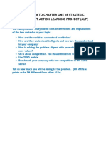 Addendum of Strategic Management Action Learning Project 1