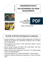 Indonesian Policy on Sustainable Oil Palm Development