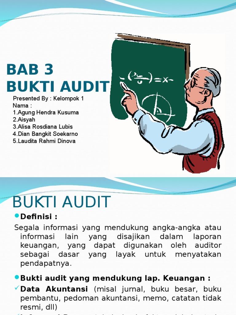 Bab 3 Bukti Audit Bab 4 Kertas Kerja Ppt