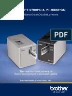 Printer Brother Pt 9700 9800