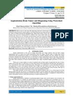 Segmentation Brain Tumor and Diagnosing Using Watershed Algorithm