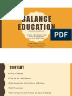 balance education - schlegel villages  pdf
