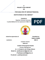 Comparative  analysis of various financial institution in the market 2011_58.doc