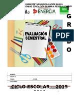 1° EXAMEN SEMESTRAL CICLO ESCOLAR 2015-2016