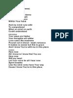 Here Now (Madness) Lyrics