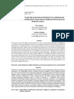 Juliani, Dian Dan M. Sholihin, 2014, Pengaruh Faktor-faktor Kontekstual Terhadap Persepsian Penyerapan Anggaran Terkait Pengadaan Barang Dan Jasa