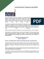 Bagaimana Merancang Struktur Organisasi Yang Efektif