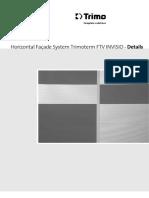 Horizontal Facade System Trimoterm Ftv Invisio Details 6261