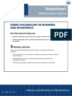 Using Vocabulary in Business and Economics