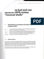 Alternative Fuel and Raw Material -AFR-review Coconut Shells