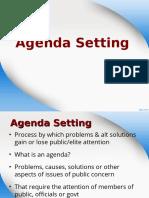 4) Agenda Setting