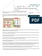 Yes Bank to tank up on $1 billion via QIP for growth drive - The Economic Times