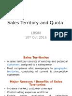 Unit 4 Sales Territory and Quota