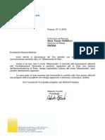 Lettera Confederazione Nazionale Misericordie