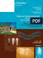 Origine du developpement du megalitisme de loueste de l'Europe