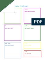 Irregular Verb Groups Word Document