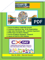 Thought Paper -Customer Experince Management Summit ( Nov 24, 2016 Marriott Karachi)