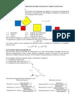 Resolución de Triángulos Rectángulos y Oblicuángulos