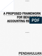 A Proposed Framework for Behavioral Accounting Research