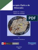 Boletin J Microscopia Optica de Minerales