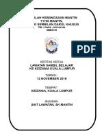 Kertas Kerja Lawatan Ke Kidzania Kuala Lumpur