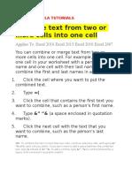 Excel Formula Tutorials