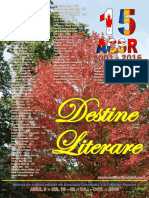 LITERARY DESTINY - DESTINE LITERARE, OCT.2016