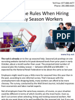 Follow the Rules When Hiring Holiday Season Workers
