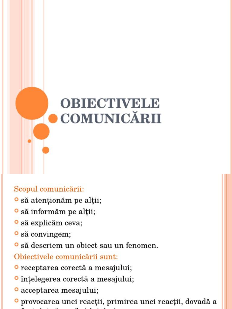 scopul comunicarii)