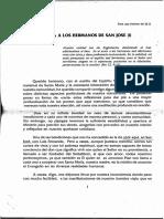 1993 - Carta a Los Hermanos de San José