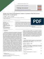 Journal Bearing Experiment Singh2008