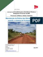 Area Based Routine Maintenance Training Manual