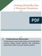 Argumen Tentang Dinamika Dan Tantangan Wawasan Nusantara