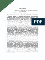 Spitzer - Geistesgeschihte vs History of Ideas