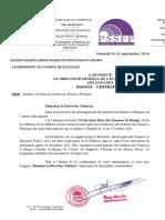 Invitation EIED Bangui