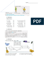 Test Paper Clasa a 4-A Unit 1