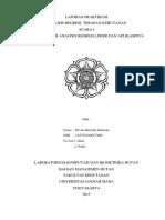 Laporan Praktikum Konsep dasar analisis regresi dan aplikasinya