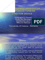 Inverse Dynamic Analysis of the Francis Turbine Director