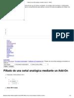 Filtado de Una Señal Analógica Mediante Un Add-On - InfoPLC