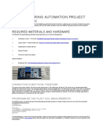 Plant Watering Automation Project Description