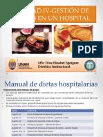 Unidad IV - Gestion de Dietas Terapeuticas - Ago 2015