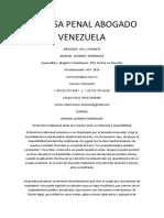 Defensa Penal Abogado Venezuela