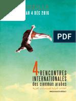 Brochure programme des rencontres Internationales des Cinémas Arabes 2016