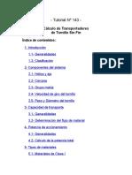 Cálculo de Transportadores de Tornillo Sin Fin