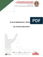 Plan de Emergencias y Desalojo Del Estado Anzoategui