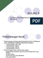 Perkembangan Novel Di Malaysia