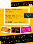 Attendance Poster - Autumn Term 2016 - Nandos, Cinema, Bowling