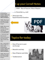 Day 1 - 2016 - Rise of Fascism Italy and Germany - Nazi Party