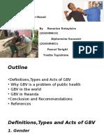 Final Presentation on GBV -Nov 2016